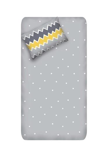 EnLora Home Enlora %100 Doğal Pamuk Çarşaf+Yastık Seti Tek Kişilik Zigros Sarı